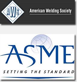 American Welding Society and ASME Logo